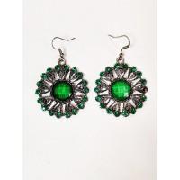 Круглі сережки зелені Джильда