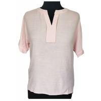 Блузка розовая короткий рукав