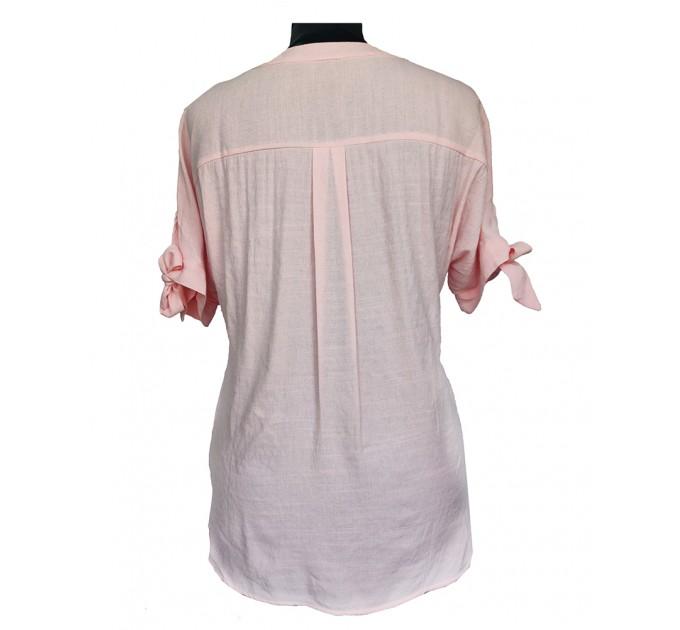 Блузка рожева короткий рукав