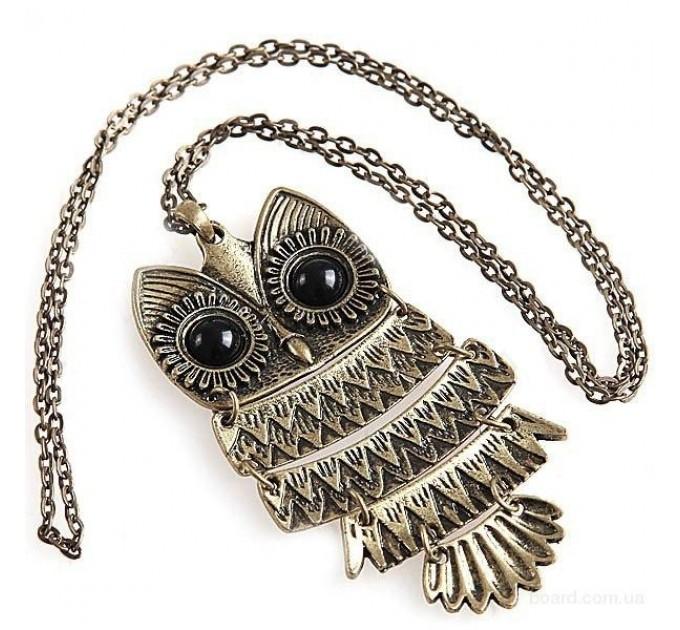 Підвіска металева сова в ретро стилі