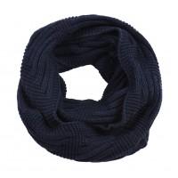 В'язаний шарф-хомут чорнильний