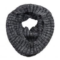 В'язаний шарф-хомут темно-сірий