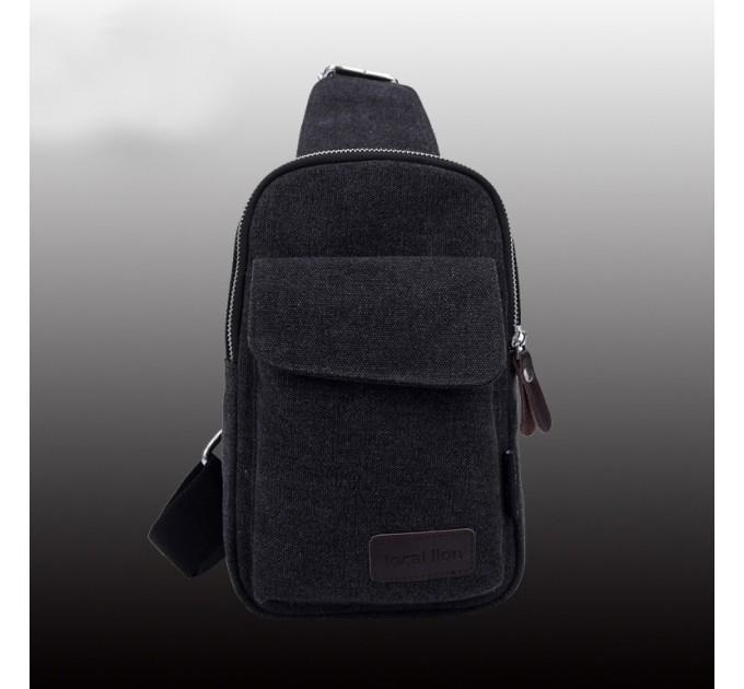 Рюкзак брезентовый на одно плечо