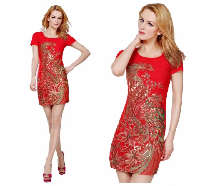 платье Жар-Птица red