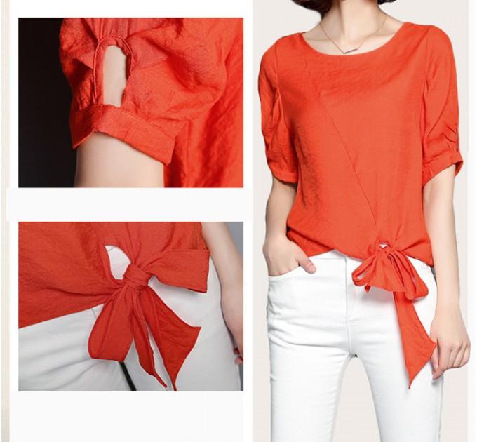 Женская блузка Бантик