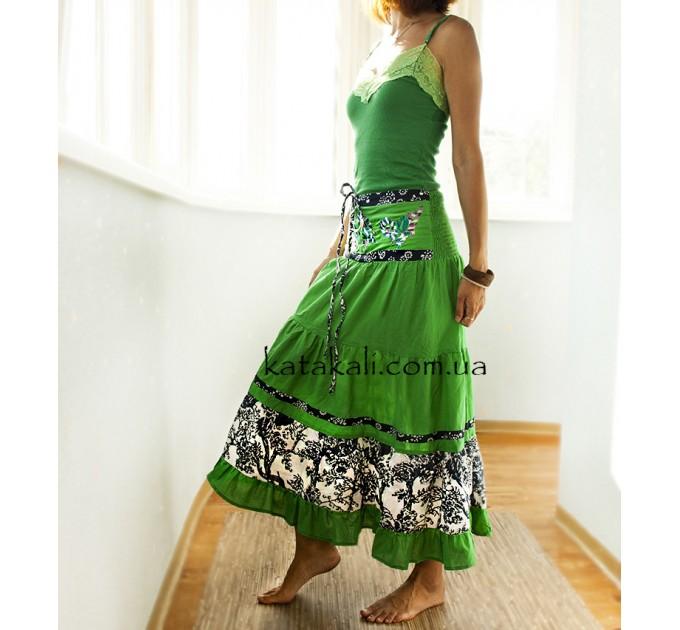Сарафан зеленый бохо стиль
