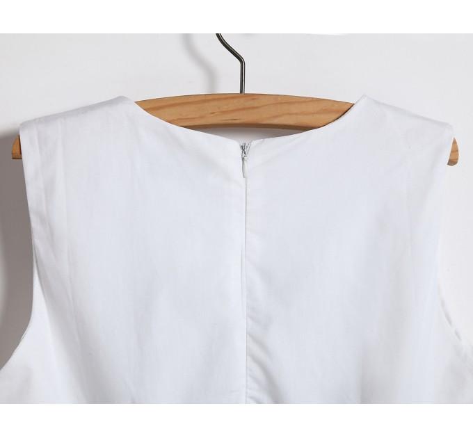 Ошатний сарафан білий річний з вишивкою
