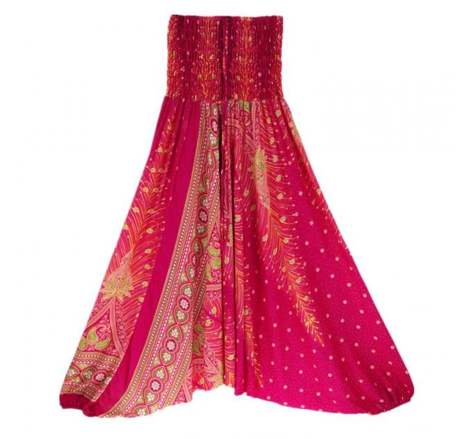 Аладіни штани жіночі красиві рожеві peacock