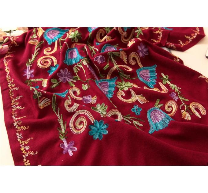 Палантин шарф нежность red
