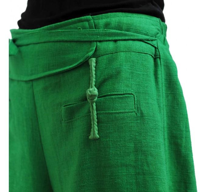 женские брюки Курортные green