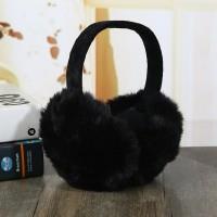 Хутряні навушники black складні