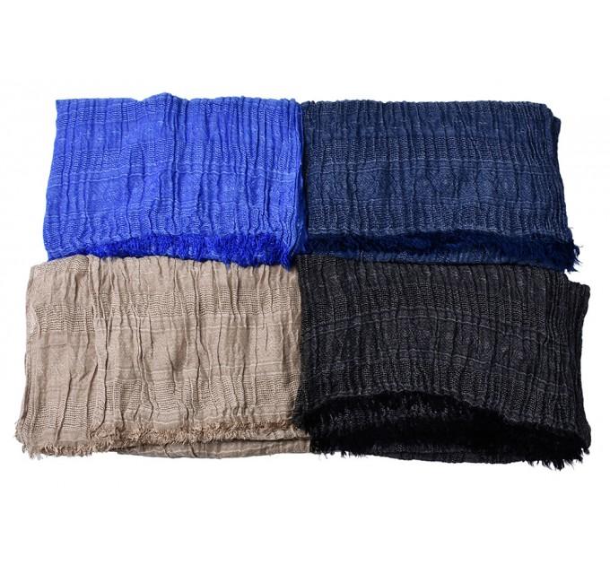 Мужской шарф жатка синий