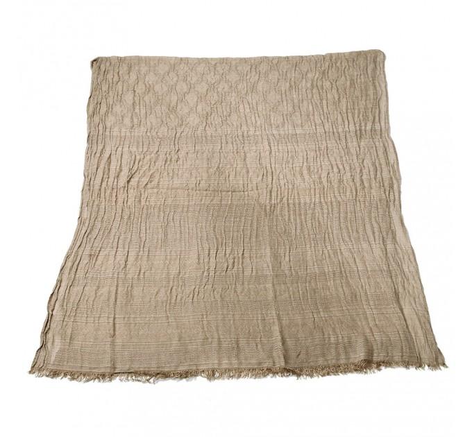 Чоловічий шарф жатка бежевий