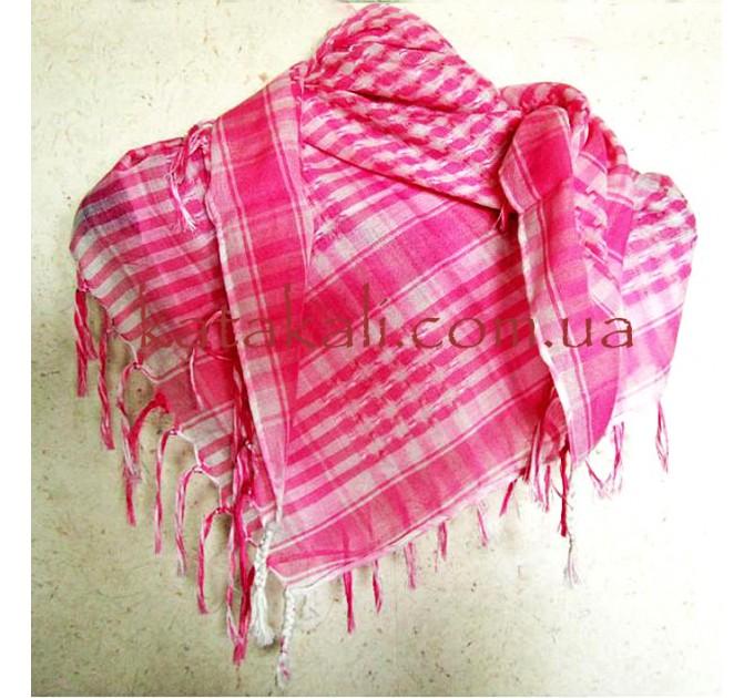 Розово-белая арафатка