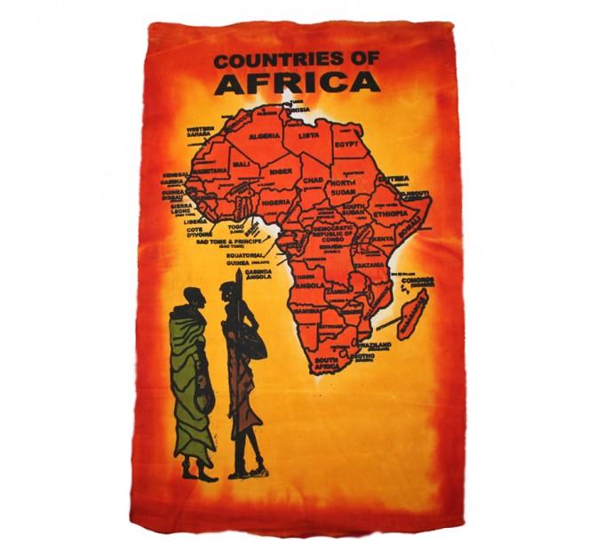 холст Африка orange