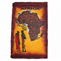Холст ручной работы Африка bordo