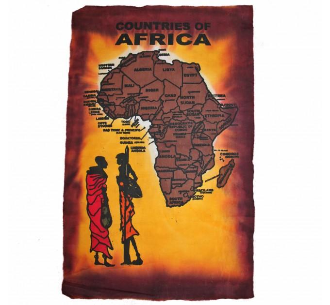 Полотно ручної роботи Африка bordo
