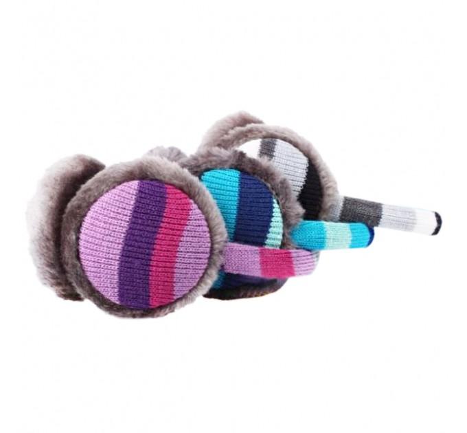 Навушники дитячі теплі смугастики
