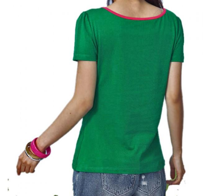 футболка Цветок green
