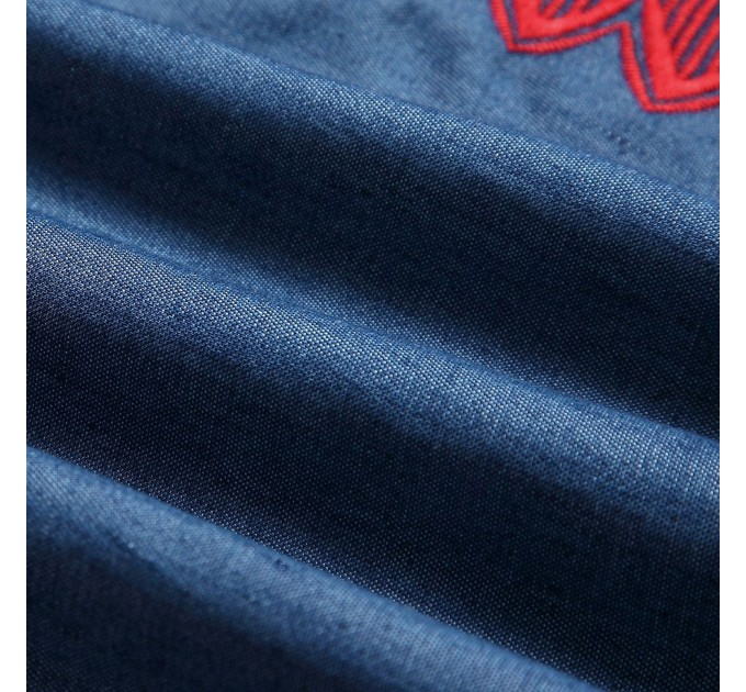 Блузка вышитая рукав-фонарик