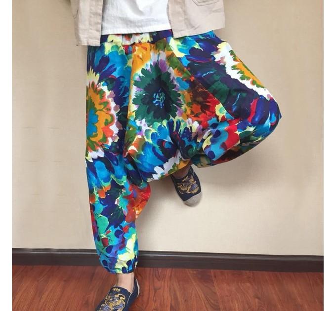 Чоловічі штани афгані яскраві хіпі стиль