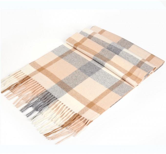 Чоловічий шарф бежевий