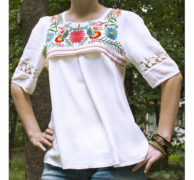 блуза Любимая white