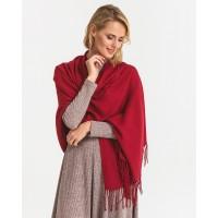 Палантин шарф бордовий кашеміровий