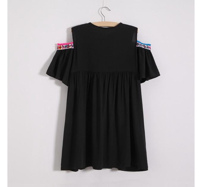 Блузка открытые плечи boho
