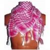 Арафатка рожево-біла