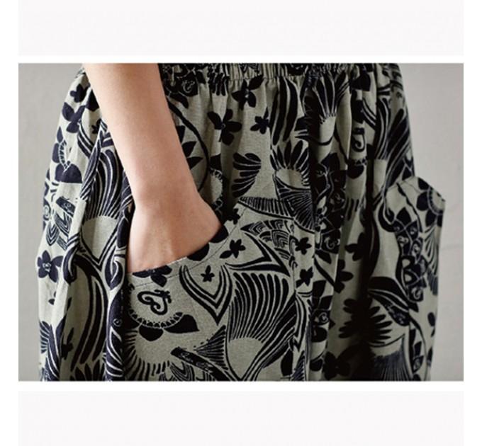 женские брюки алладины Серые