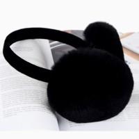 Хутряні навушники кролик black