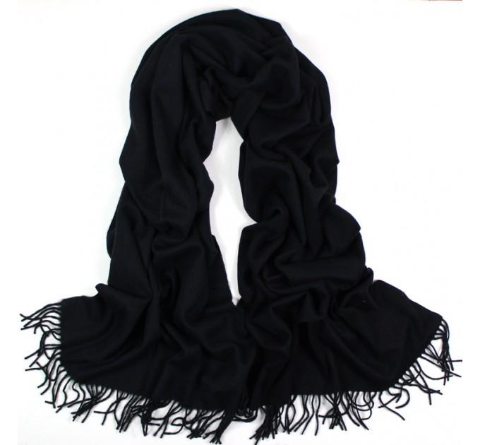 Палантин кашемир black