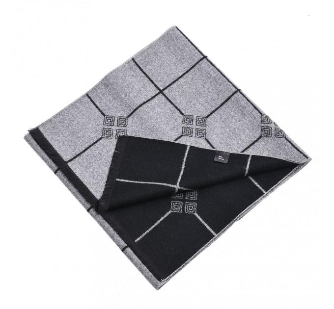 Шарф двосторонній сіро-чорний