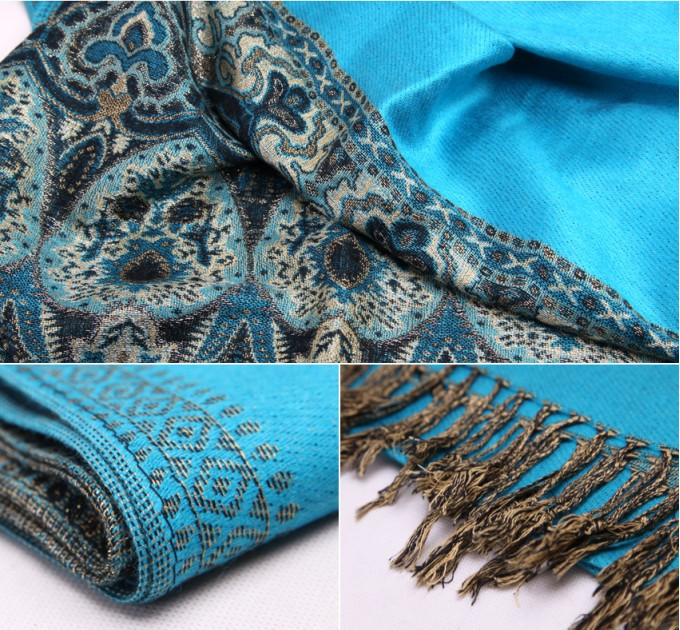Палантин синій орнаменти