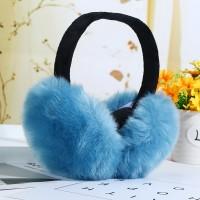 Хутряні навушники блакитні