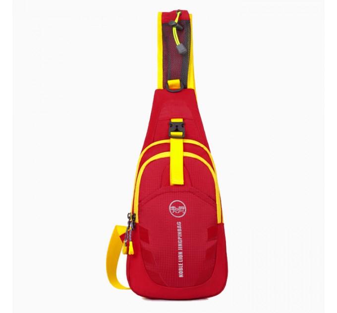 Рюкзак на одне плече червоний