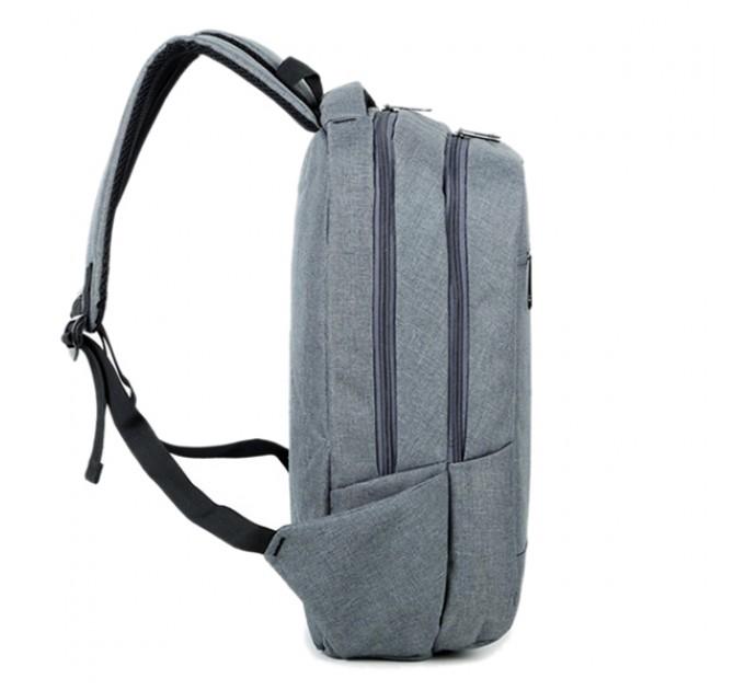 Рюкзак синій локанічний