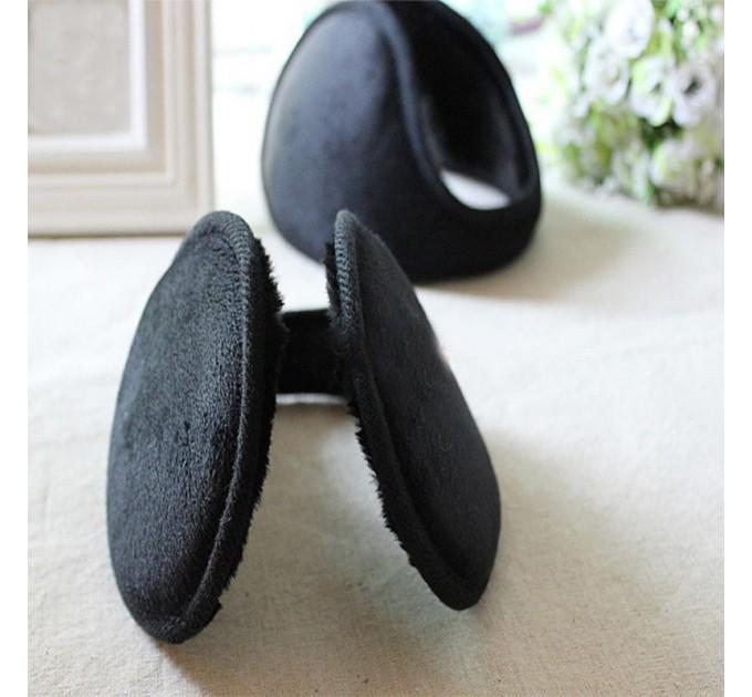 Теплі потиличні навушники чорні