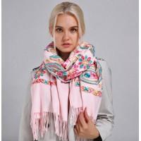 Палантин шарф з вишивкою шовком