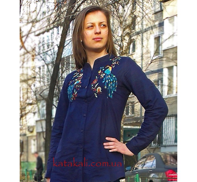 блуза Павлин