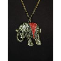 Підвіска металева зі слоном на ланцюжку