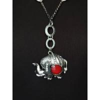 Підвіска на ланцюжку слон з каменем