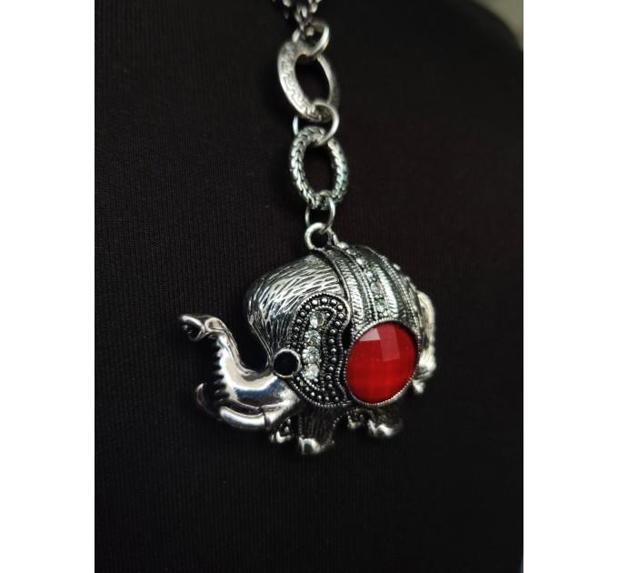 подвеска Слон с камнем