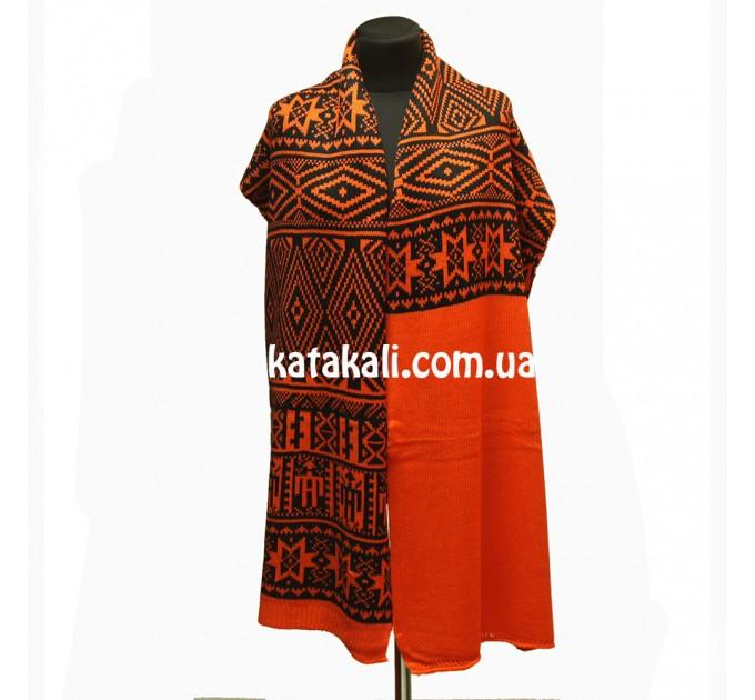 шарф вязаный Оранжевый