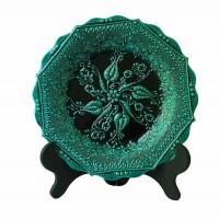 Настенная тарелка турецкий цветок