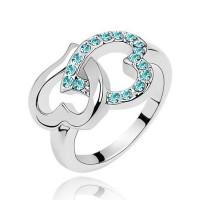 Кольцо сердце blue