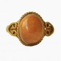 Кольцо женское с авантюрином