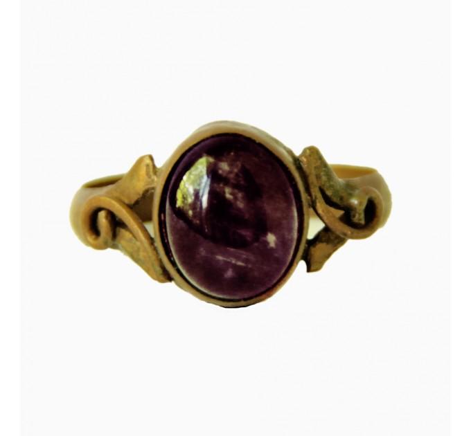Кольцо женское с аметистом