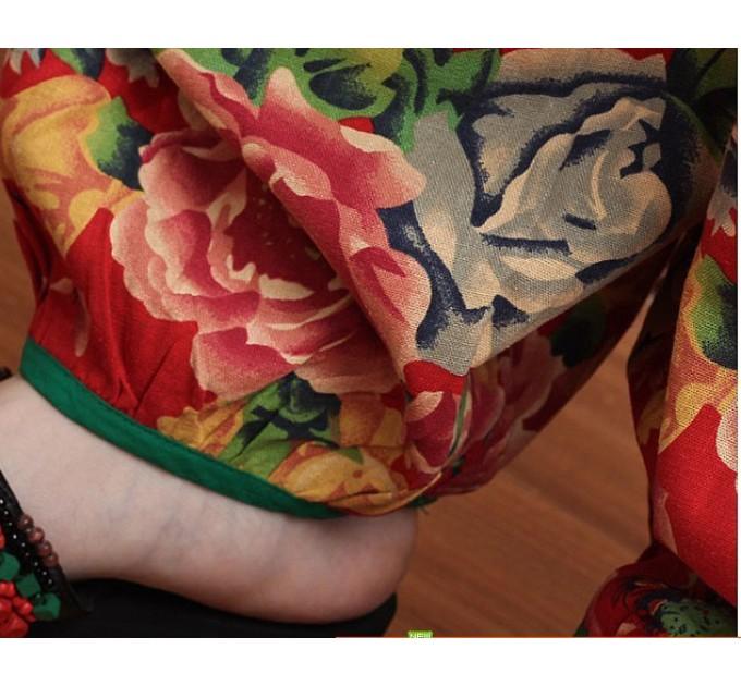 женские брюки Кама red